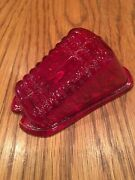 1930 's Rare Red Glass Tail Light Lens Foreign Makes Vintage
