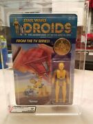 Vintage Star Wars 1985 Afa 80 C3po Card Moc Unpunched Clear Clear Bubble