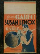 Susan Lenox Her Fall And Rise Original 1931 Window Card, C8.5 Vf To Near Mint