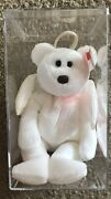 Ty Halo Angel Bear Beanie Baby Rare Tush Tag 425 Brown Nose Error Collector