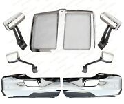 Qsc Chrome Bumper Corners Grille Chrome Door Hood Mirrors For Kenworth T680