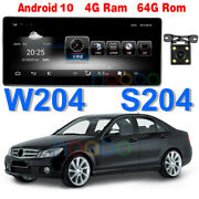 10.25 Android 10 Car Gps Bt For Mercedes Benz C Class W204 C200 C260 2008-2010