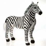 Fiesta Toys Standing Zebra 28.5and039and039 Inches My Safari Horse Pet Zoo Animal Pillow