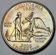 2005-d California State Quarter Lightly Toned Uncirculated Must Have