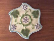 Unusual 1927 Rookwood Pottery Trivet/ Tea Tile With Grapes And Leaves