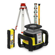 Leica Rugby Cla Rotating All-rounder Rotary Laser Remote/receive 16and039 Rod Tripod