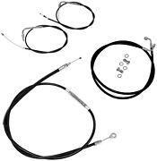 Cable/brake Line Kit La Choppers Beach Bars And Extra Wide La-8051kt-04b