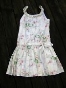 Nwt Drop Waist Dress Sweet Pea Trellis Floral Pink White 12 Lined