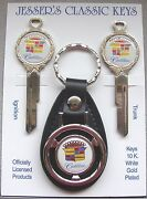 White Cadillac Crest Classic White Gold Deluxe C/d Key Set 1968 1972 1976 1980