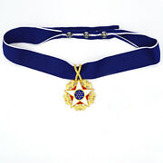 Us Order Badge Presidential Medal Of Freedom Medallion With Neck Ribbon Rare