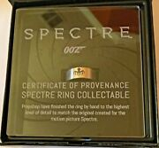 New James Bond Se .925 Silver Spectre Ring W/cop Free Fast Shipping Very Rare