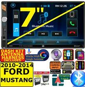 2010-2014 Ford Mustang Dual Bluetooth Usb Sd Aux Car Radio Stereo Package