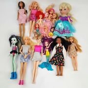 Lot Of 16 Dolls Barbie And Friends Disney Monster High Precious Moments Chelsea +