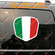 Italy Italian Flag Decal Sticker Shield Car Vinyl Reflective Glossy Arched