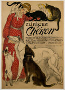 Clinique Cheron Vintage French Veterinary Hotel Clinic Giclee Canvas Print 20x28