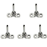 5 Pc 3/16and039and039 Stainless Steel Deck Toggle Swage Stud Marine Turnbuckle Cable Rail