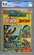 Brave And The Bold 116 Cgc 9.4 Nm Owwp 100 Page Giant Dc 1974 Batman And Spectre