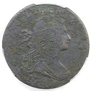 1796 Nc-3 R-6+ Pcgs Vf Details Draped Bust Large Cent Coin 1c