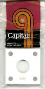 Capital Holder Acrylic White Case 2x2 For Cent Coin Plastic Display W/ 4 Screws