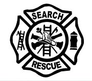 Firefighter Search And Rescue Maltese Cross Vinyl Decal Sticker Emt Ems Dispatch