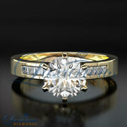 Round Cut Bridal Diamond Ring F Si 1.45 Ct Accented Solitaire Size 5 6 7