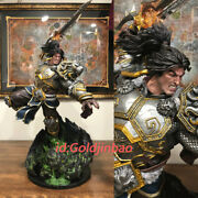 Wow Varian Wrynn Figurine Painted Model Statue Resin Gk 1/5 In Stock Painted New
