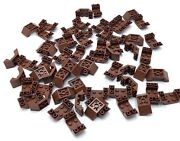 Lego Lot Of 60 Brown 2 X 4 Dot Seat Parts Wood Color Under Carriage Wedge Parts