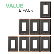 Value 8-pack Rocker Gfci Outlet Toggle Switch Wall Plate Oil Rubbed Bronze