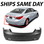 New Primered - Rear Bumper Cover Replacement For 2011-2013 Hyundai Sonata 11-13