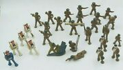 Vintage Diecast Lead Barclay Etsy Soldiers Navy Hand Painted Figurines =28pc Lot