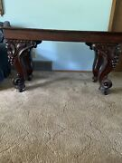 Antique Table/desk With Carved Legs