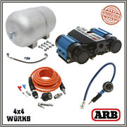 Arb Air Compressor Da4985 Ckmta12 High Output 12v Twin Deluxe Inflation Tank Kit