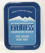 Vintage Pepsi Cola Tray Evervess Sparkling Water Rare Ships Free