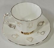 Taylor And Kent Bone China Red Rose Tea Cup Of Fortune Teacup And Saucer Excellent