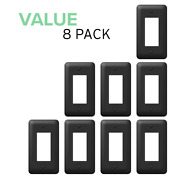 Value 8-pack Rocker Toggle Switch Gfci Outlet Wall Plate Stamped Steel, Black