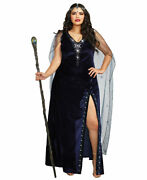 New Dreamgirl 11149x Plus Size The Sorceress Dramatic Witch Costume
