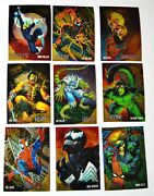 1995 Fleer Ultra Spiderman Golden Web Limited Edition 1-9 Chrome Card Subset