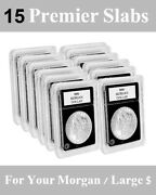 15 Coin Slabs Holders 38.1mm For Large Morgan Silver Seated Dollar World Premier
