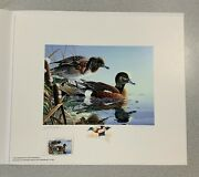 1991 Pennsylvania Duck Stamp Print Gerald Putt With Stamp Remarque
