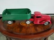 Vintage Turner Toy Truck Pressed Steel Large Truck Cab And Trailer Tin Toy Lot