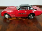 Vintage Tin Red Taiyo Corvette Battery Operated Made In Japan Tin Toy Lot Works