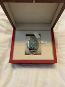New Auth Green Dial Stainless Salvatore Ferragamo Chronograph Men Watch 1895