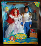 Disney The Little Mermaid And Eric Wedding Party Set 1997 Barbie Doll New