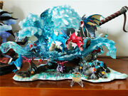 Gene Gyarados Statue Painted Model In Stock Anime Resin Figurine Collection