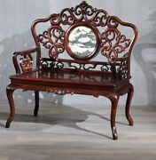 Mingdy Stl Solid Wood Palace Chair Old-fashioned Wooden Armchair Tea Table 1102