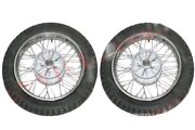 New 2 Complete Front Rear 16 36 Holes Wheel Rim With Tyre Tube For Jawa Cdn
