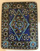 Antique Imperial Russian Enameled 84 Silver Cigarette Case F. Wenshau