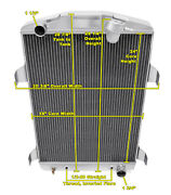 3 Row Ace Champion Radiator For 1930 Chevrolet Car Chevy V8 Conversion