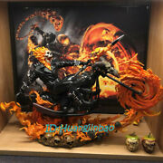 1/4 Ghost Rider Model Resin Figurine Painted Metal High-q Ver. Sculpture Statue