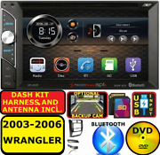 2003-2006 Jeep Wrangler Bluetooth Cd/dvd Usb Aux Sd Car Radio Stereo Package